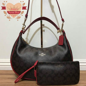 🌹Coach Coated Canvas Hobo W/ Matching Wristlet🌹